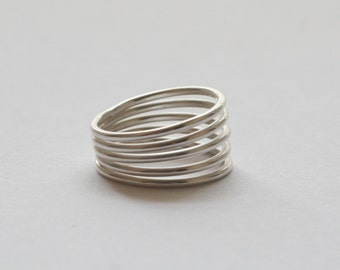 Stack rings, sterling silver faux stacking ring, made to order