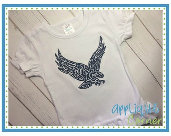 INSTANT DOWNLOAD 2083 Eagle Swirl Filled Embroidery design in digital format for embroidery machine by Applique Corner