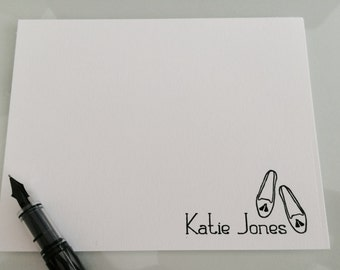 Custom flat notecards….Shoes with tassels