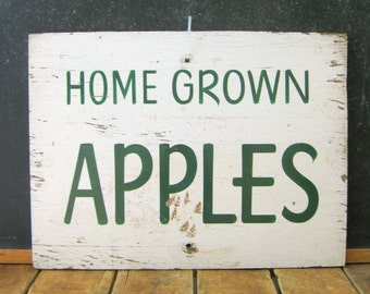 Antique Painted Sign, Apples Sign, Vintage Produce Sign, Farm Stand, AAFA, Hand Painted, Apple Orchard Sign, Weiler Fruit Farm, Dayton, OH