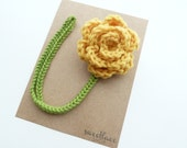 Goldenrod Pacifier Clip--Crochet Flower pacifier clip--Baby Girl accessories--MAM adapter--Sweetlace Shop