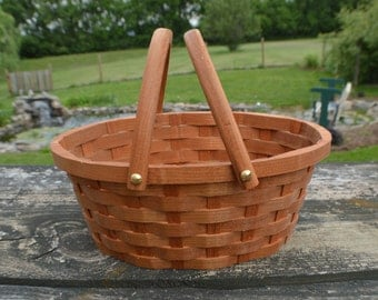 Basket for Flower girl small oval with handles