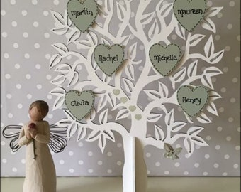 Personalised Wooden Family Tree freestanding