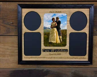11x14 Our Wedding Picture Frame, Bride & Groom Gift, Personalized Wedding Engagement Anniversary Gift, Laser Engraved