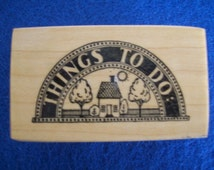 Rubber Stamps, Wood Mounted Stamp, Scrapbooking, PSX Rubber Stamp, Things To Do, To Do Stamp