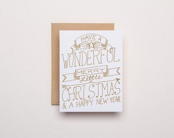 Have a Merry Little Christmas Letterpress Card - Letterpress Christmas Card