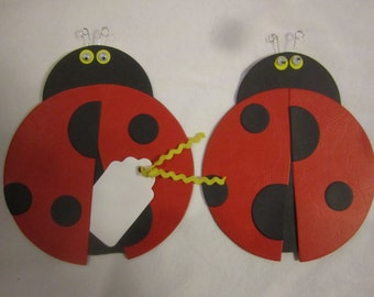 Set of 12 Ladybug Favor Tags, Place Cards, Decorations, Name Cards, Table Tents, Invitations, Baby Shower Place Cards, Escort Card
