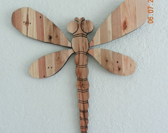 Hand Crafted Dragon Fly from Pallet Wood