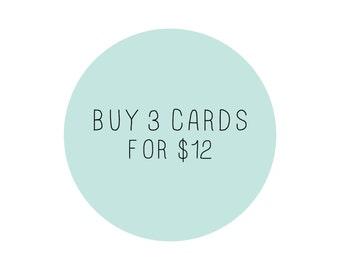 Buy 3 Cards - Mix & Match