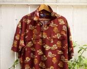 Vintage RALPH LAUREN Camp Shirt * Retro * 40's Theme * Unisex Camp Shirt * POLO