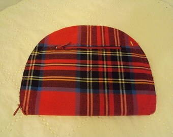 Collapsible plaid shopping bag