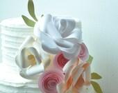 Cake topper, paper flower cake topper, Wedding Cake topper, Wedding cake flowers