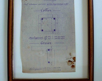 old copy from a technical drawing