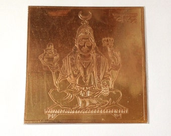 """3"""" Chandra Moon Yantra - Blessed - Copper - Harmony - Balance - Peace - Friends"""