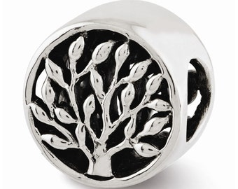 Sterling Silver Tree Bead