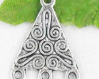 5 Pieces Antique Silver Earring Connector for Earring Making, Jewelry Supplies, Jewelry Making - F28215