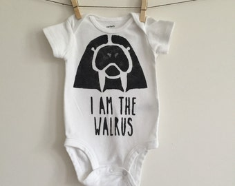 The Beatles Baby Onesie// Beatles Baby Clothes // I Am The Walrus Baby Onesie Bodysuit // Beatles Baby Shower // Walrus Baby / Beatles Shirt
