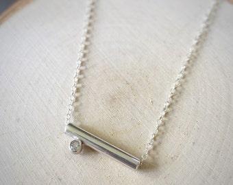 Sterling Silver Gemstone Slider Necklace
