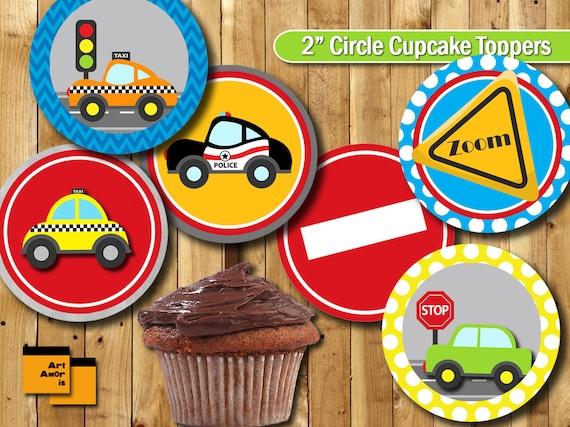 Car Cake Image Free Download : Car theme Party Cupcake Topper Birthday Party Cupcake Topper