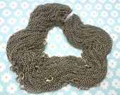 50pcs 27 inch 2X3mm antique bronze necklace chain with lobster clasp