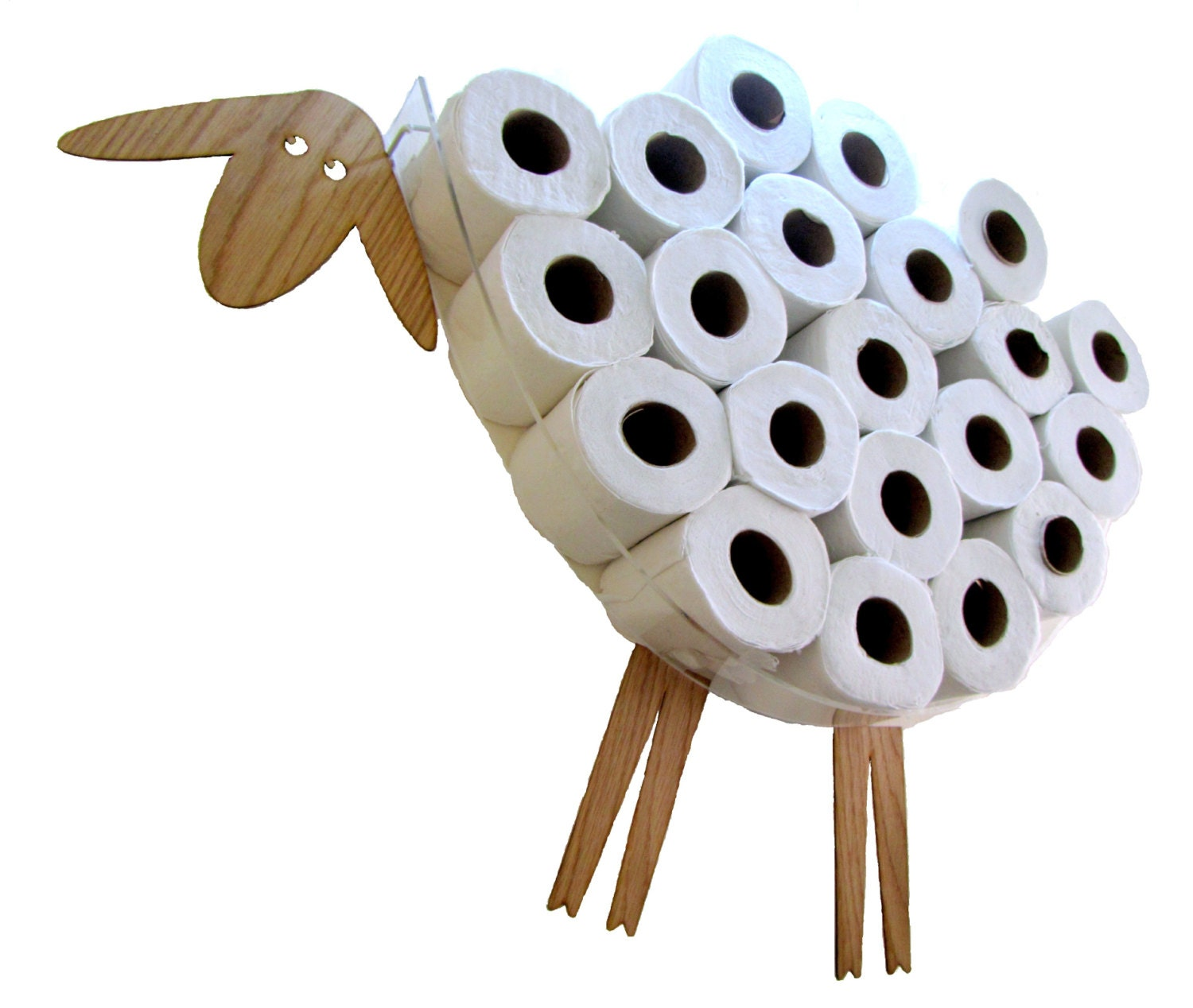 Sheep shelf a wall shelf for storing toilet paper rolls for Loo roll storage