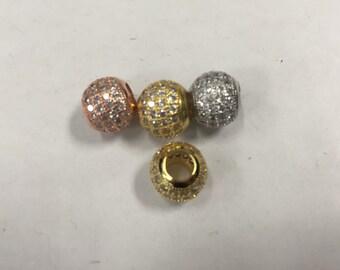 10mm round  CZ bead, 1 bead