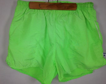 neon green shorts size S