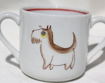"Two handle mug ""Animal Kingdom"" by Arabia Finland"