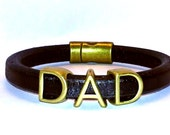 DIY KIT - Regaliz Bracelet - Leather Bracelet project for Dad-  Great for Father's Day - Jewelry and Craft supplies Beads