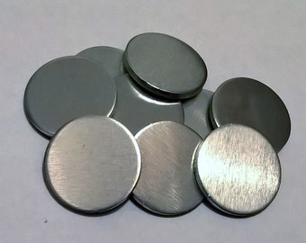 200 - Raw Beast Blanks 1 Inch Round Tokens Coin Pebbles Thick 8 Ga Hand Stamping Blanks 3mm Thick For Jewelry By CDPMerch