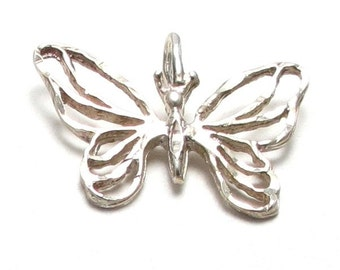 Butterfly Sterling Silver Pendant Charm - Weight 1.4 Grams