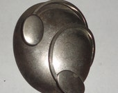 Chunky Abstract Silver Tone Brooch*
