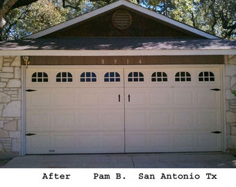 Garage door window kit Carriage House double stall