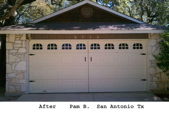 Garage door window kit carriage house double stall for Double garage kit
