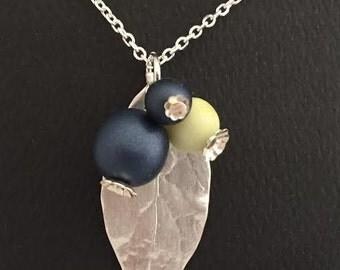 Blueberry Leaf Pendant