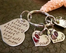 Personalized Keychain Hand Stamped Keychain There's These Kids They Call Me Mom Mothers Day Gift