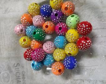 Bulk Beads Wholesale Beads Bling Beads Acrylic Beads Large Lot 100pcs 10mm Beads