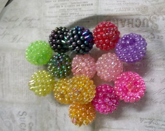 Berry Beads Bulk Beads Wholesale Beads Assorted Beads Acrylic 15mm 50pcs