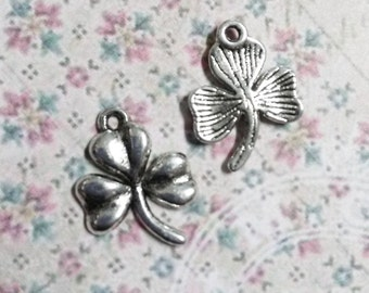 Shamrock CharmS-Clover CharmS-Silver-19mm-50pcs-WHOLESALE  Charms Pendants