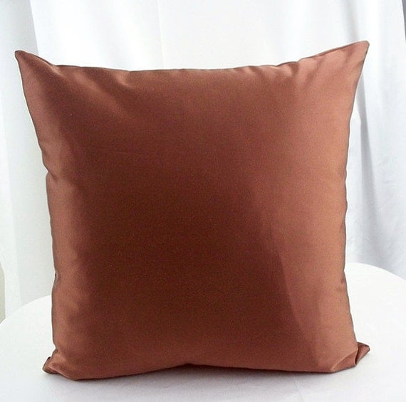Light Brown Decorative Pillows : Brown pillow cover Solid brown pillows by artsandcreations on Etsy