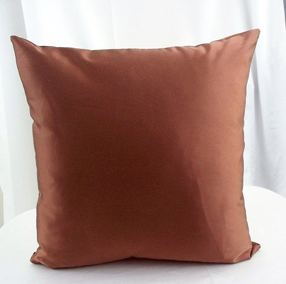 Decorative Pillow Brown : Brown pillow cover Solid brown pillows by artsandcreations on Etsy