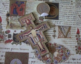 Dollhouse miniature medieval  St. Damiano's crucifix