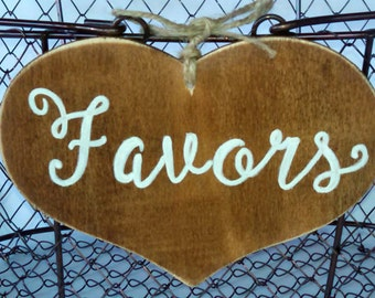 Favors/Cards Rustic Wooden Signage