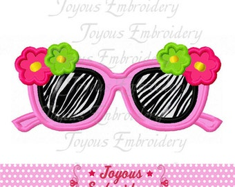 Instant Download Flower Sunglasses Applique Embroidery Design NO:1760