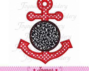 Instant Download Anchor Applique Machine Embroidery Design NO:1762