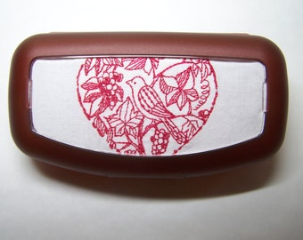 Red Bird Eyeglass/Sunglass Case