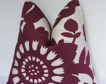 Purple Decorative Pillow, Floral Throw Pillow, Plum Flower, Pillow Cover, Toss Pillow, Home Furnishing, Home Decor