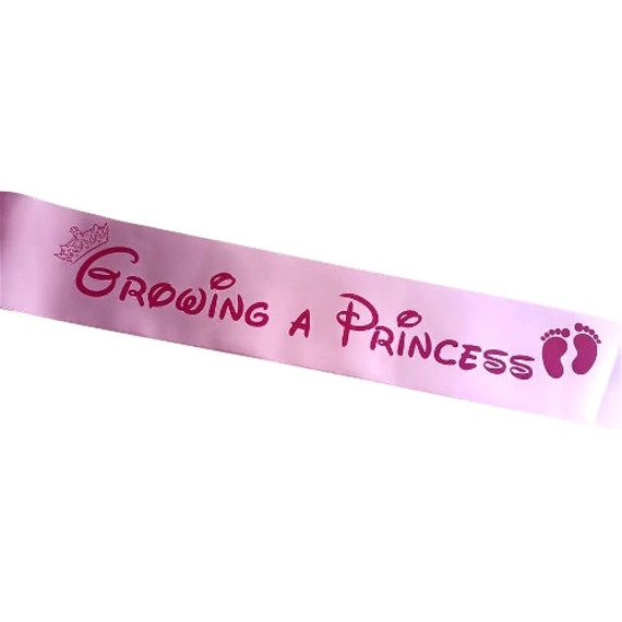 baby shower sash growing a prince or princess choose your sash