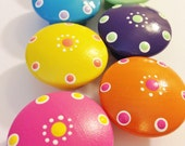 Hand Painted Bright and Colorful Drawer Knobs