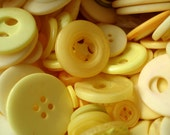 50 Mixed Yellow Buttons Pack of Yellow Buttons AM8